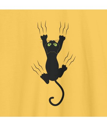 Camiseta gato en la pared