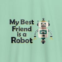 Camista infantial my best friend is a robot
