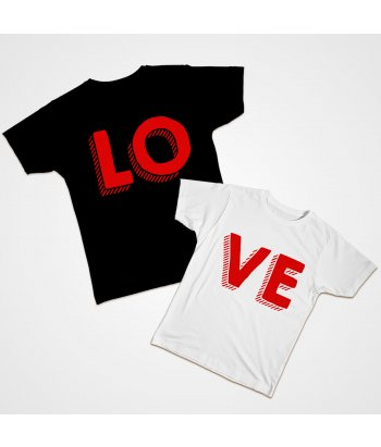 Camiseta dúo LOVE