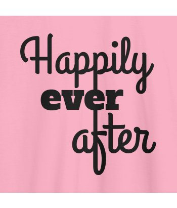 Camiseta con mensaje Happily ever after