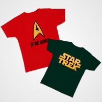 Camiseta dúo Star Wars Trek