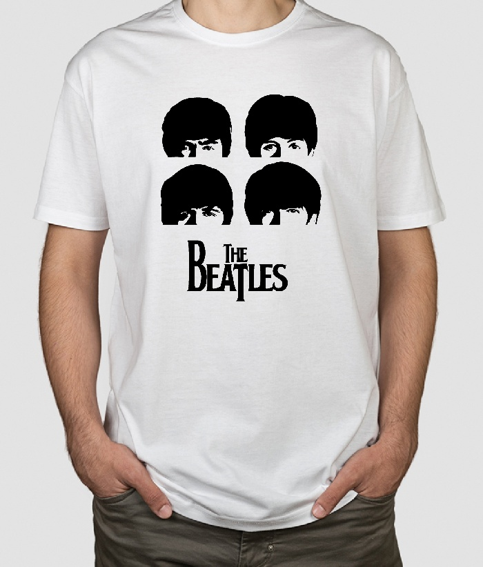 c665aef67f Camiseta The Beatles cabezas - Dezuu