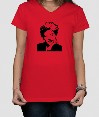 T-shirt música retrato Billie Holiday