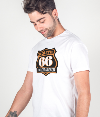 T-shirt Route 66 Harley logo