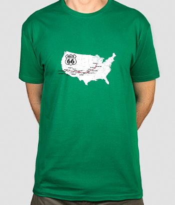 Route 66 USA Map T-Shirt