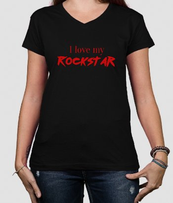 T-shirt I Love My Rockstar