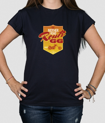 T shirt vintage Cartello Route 66