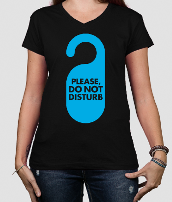 lustiges T-Shirt Do not disturb