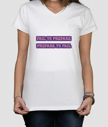 T shirt con scritta Fail to Prepare