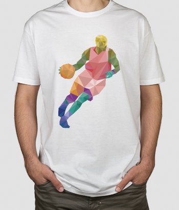 T-Shirt Basketball Dribbling