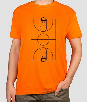 T-Shirt Basketball Feld