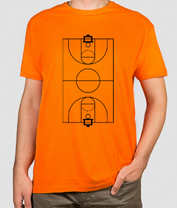 T-shirt sport basketbal veld