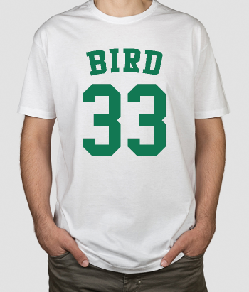 T-Shirt Basketball Larry Bird 33