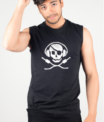 T-shirt Divertida Pirata DJ