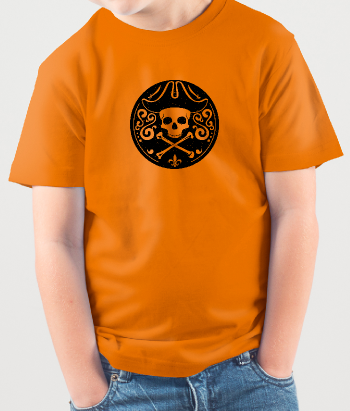 T-shirt retro piraten logo