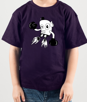 Camiseta robot cómic