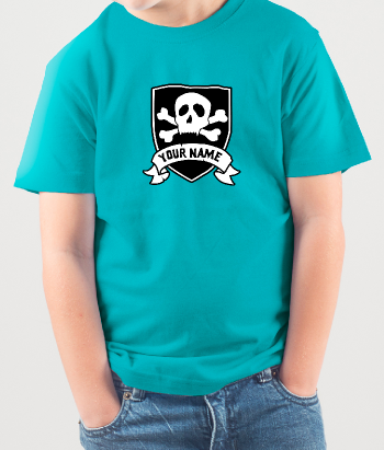 T-shirt Personaliseerbaar piraten vlag