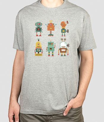 Kinder T-Shirt Roboter Kollektion
