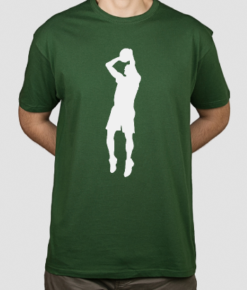 T-shirt schietende basketballer