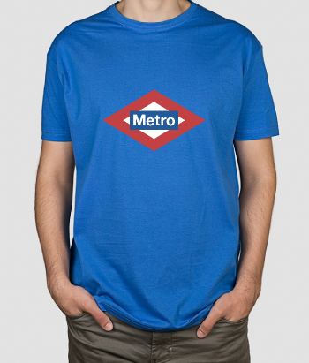T-shirt divertida sinal do metro