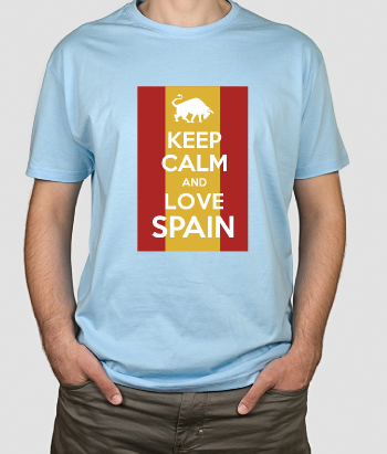 T shirt Keep Calm Love Spain