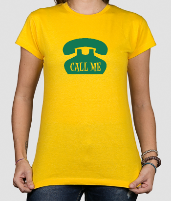 T-shirt Telefoon Call Me