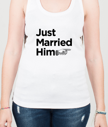 Camiseta just married him