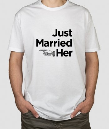 Camiseta just married her
