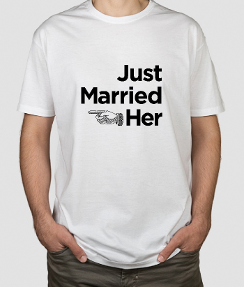 T-shirt Just Married Her