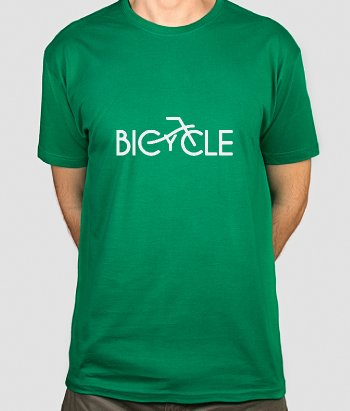 T-shirt sport tekst Bicycle