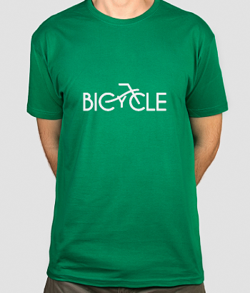 Bicycle Text Sports Shirt