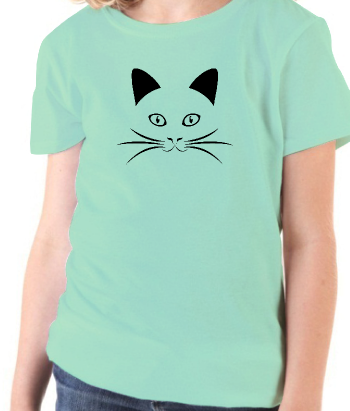 T-shirt animal chat portrait joyeux