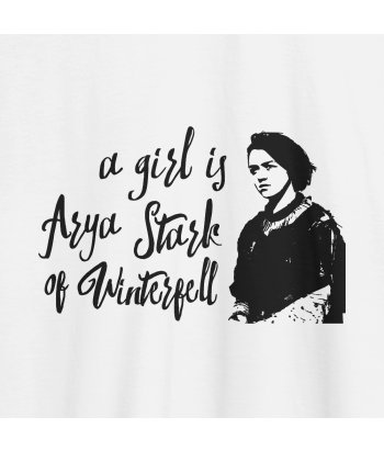 Camiseta series A girl is