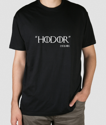 T-shirt Game of Thrones citaat Hodor