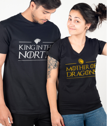 Magliette di coppia King North Dragons
