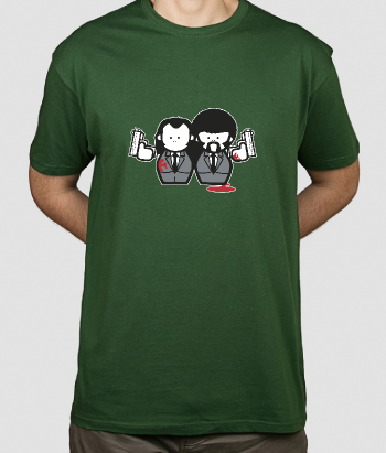 T-shirt personagens Pulp Fiction