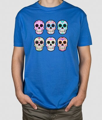 T-shirt divertida Caveiras Mexicanas