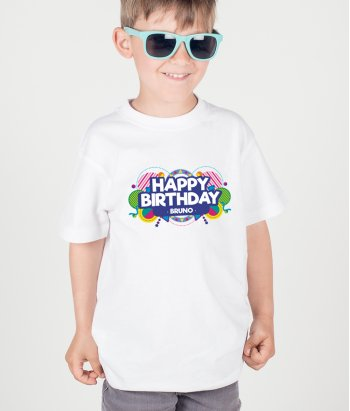 T-shirt Personalizável Happy Birthday