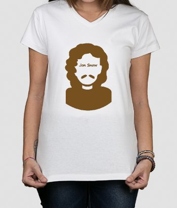 T shirt serie tv Jon Snow Icona
