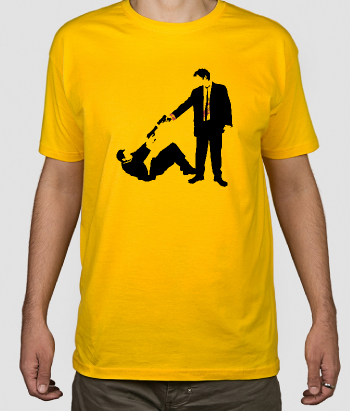 Camiseta Reservoir Dogs disparo