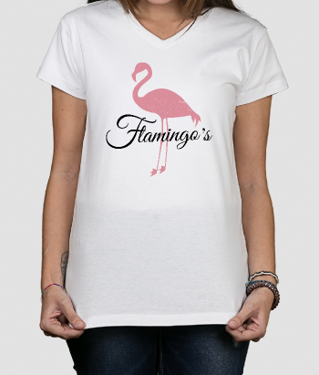 Camiseta retro flamingos