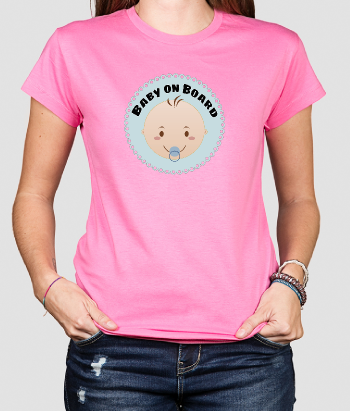 Camiseta divertida Baby on board