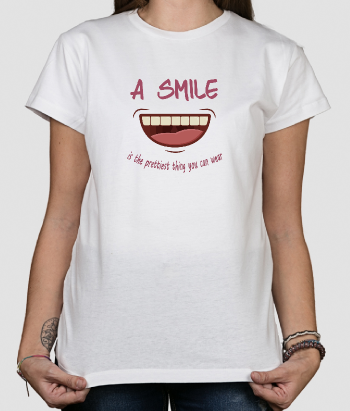 Camiseta divertida Wear a smile