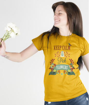 T-shirt keep calm & pick flowers