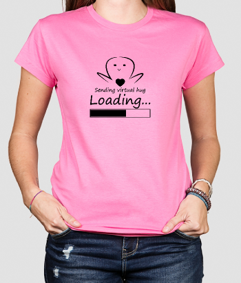 T-shirt sending virtual hug