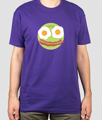 T-shirt eieren en bacon smiley