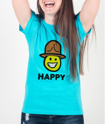 Camiseta música Cara Pharrell happy