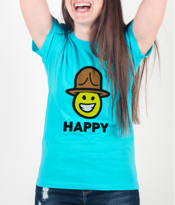 T-shirt Pharell smiley Happy