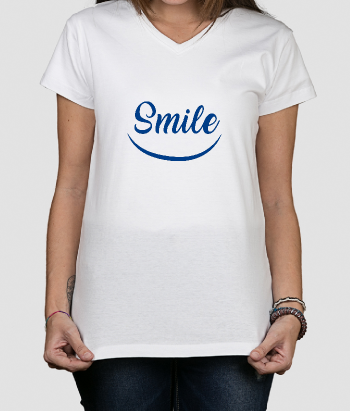 T-shirt tekst Smile smiley
