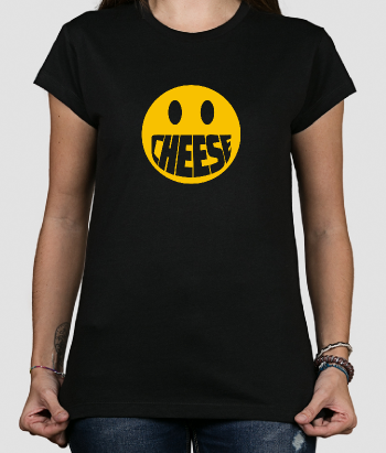 T-shirt smiley cheese